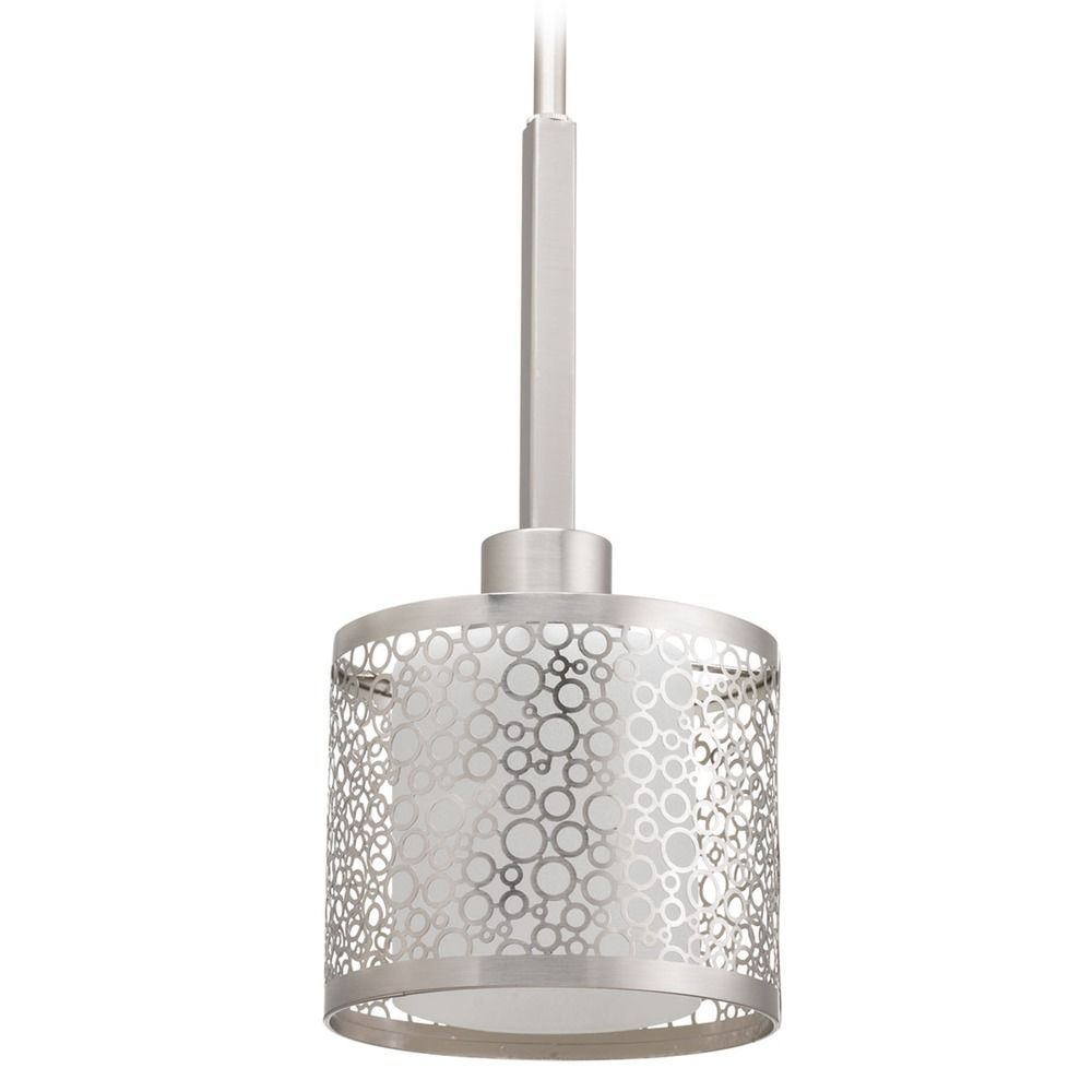 Progress lighting mingle brushed nickel mini pendant light with progress lighting mingle brushed nickel mini pendant light with cylindrical shade mozeypictures Gallery