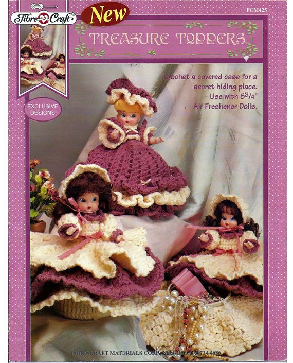 Treasure Toppers Crochet Doll Pattern Fibre Craft Fcm425