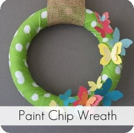 love the use of paint chips