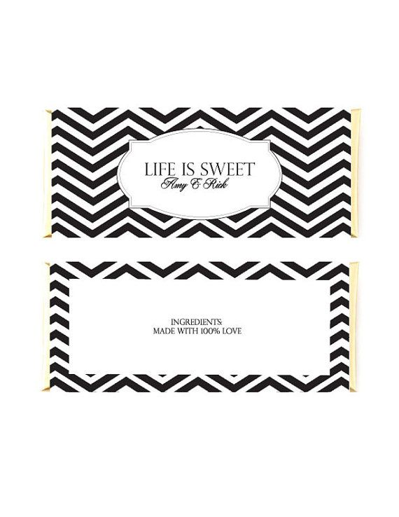Printable Candy Bar Wrappers Black And White by