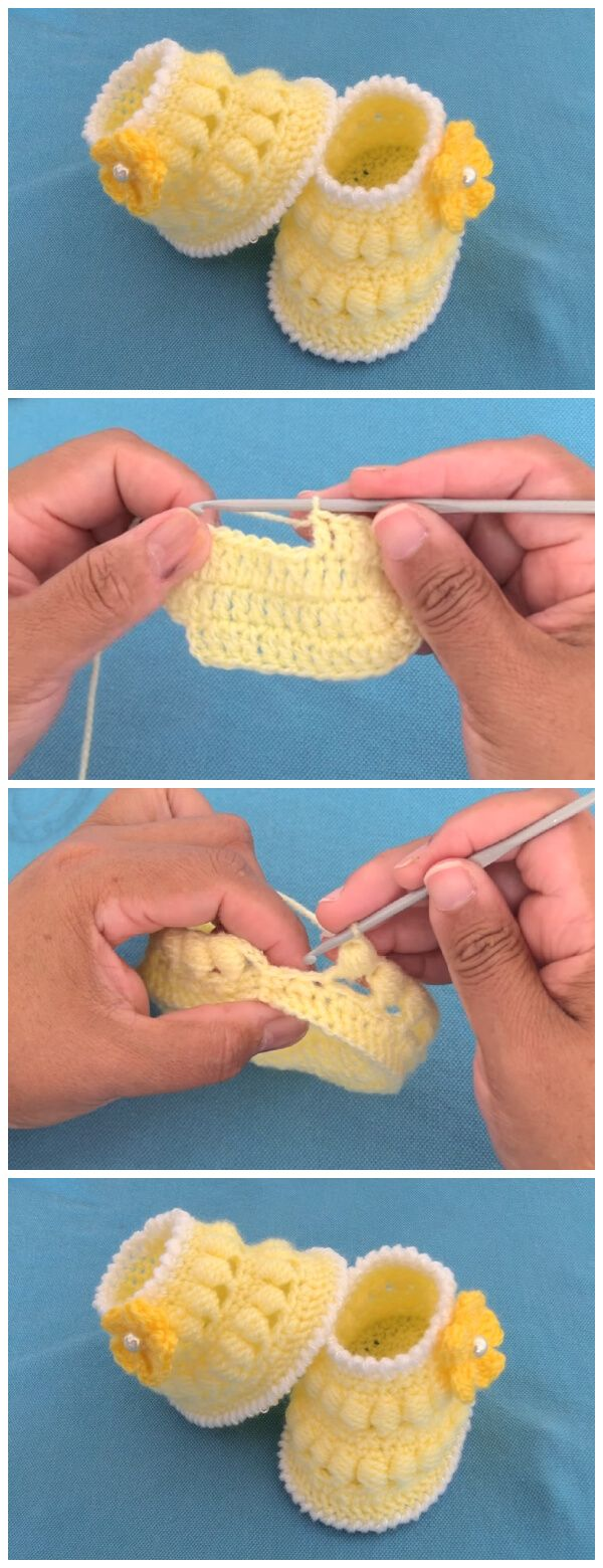 Very Easy Crochet Baby Booties – Learn to Crochet