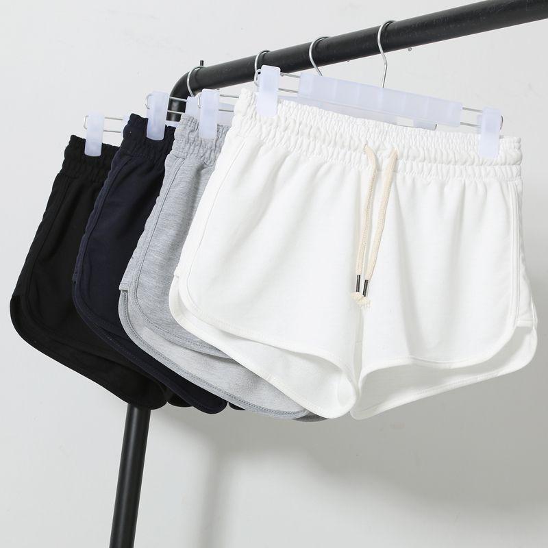 Ocasional das mulheres verão solto plus size bermudas plus size feminina  esportes shorts de corrida pano de algodão em Shorts de Roupas e Acessórios  ... 6311f48121192