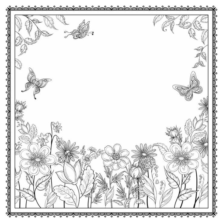 Enchanted English Garden Coloring