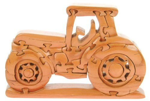 Farm Tractor 3 D Wooden Puzzle Fun Brain Teaser Handcrafted Wood Top Novelty Christmas Gift Idea Top Novelty Wo Wooden Puzzles Wood Puzzles Jigsaw Gifts