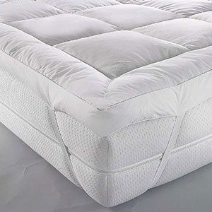 Microgel Mattress Topper With Piping And Elastic In White