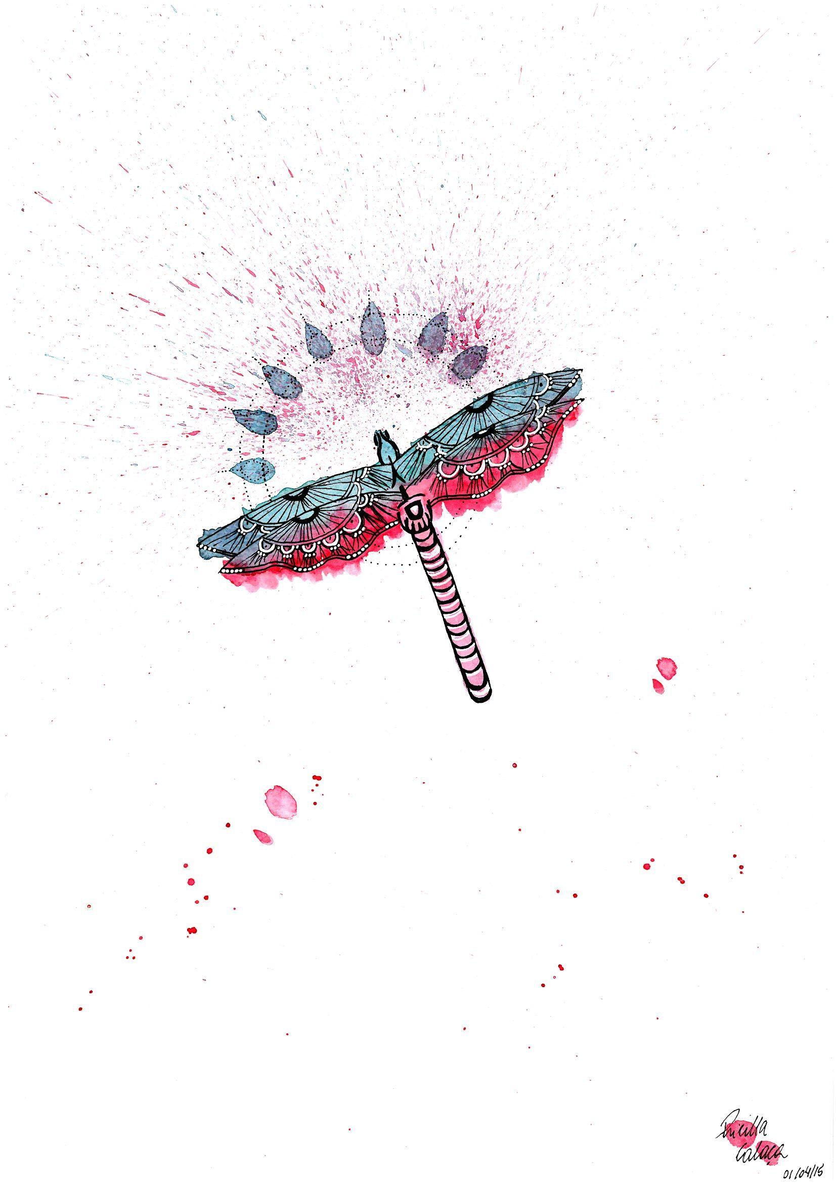 libélula <3 #watercolor #aquarela #aquarelle #libelula