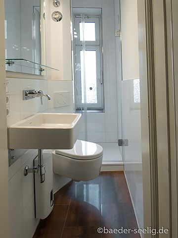 Badsanierung Minibad in Hamburg Dusche, Heizkörper
