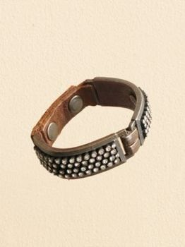 LEATHER AND CRYSTAL STUD BRACELET in Holiday 2012 from Pendleton on shop.CatalogSpree.com, my personal digital mall.
