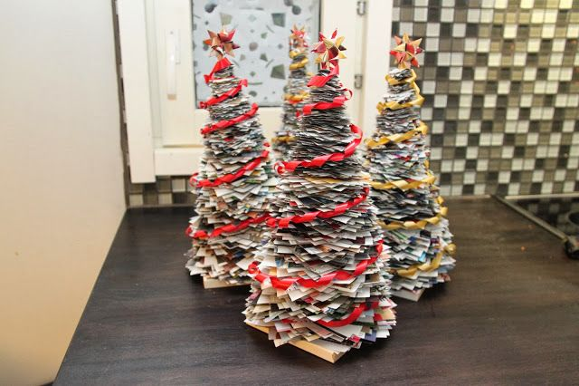 Christmas tree from recycled paper