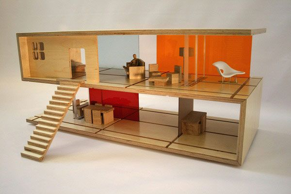 Creative Coffee Table Design Convertible Into A Doll House | Designed By  Amy Whitworth From QUBIS HAUS
