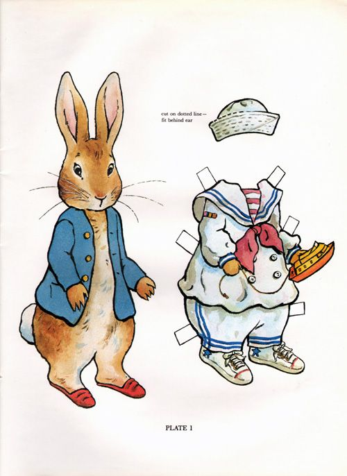 Peter Rabbit Paper Dolls were drawn by Kathy Albert and published by Dover in 1982.