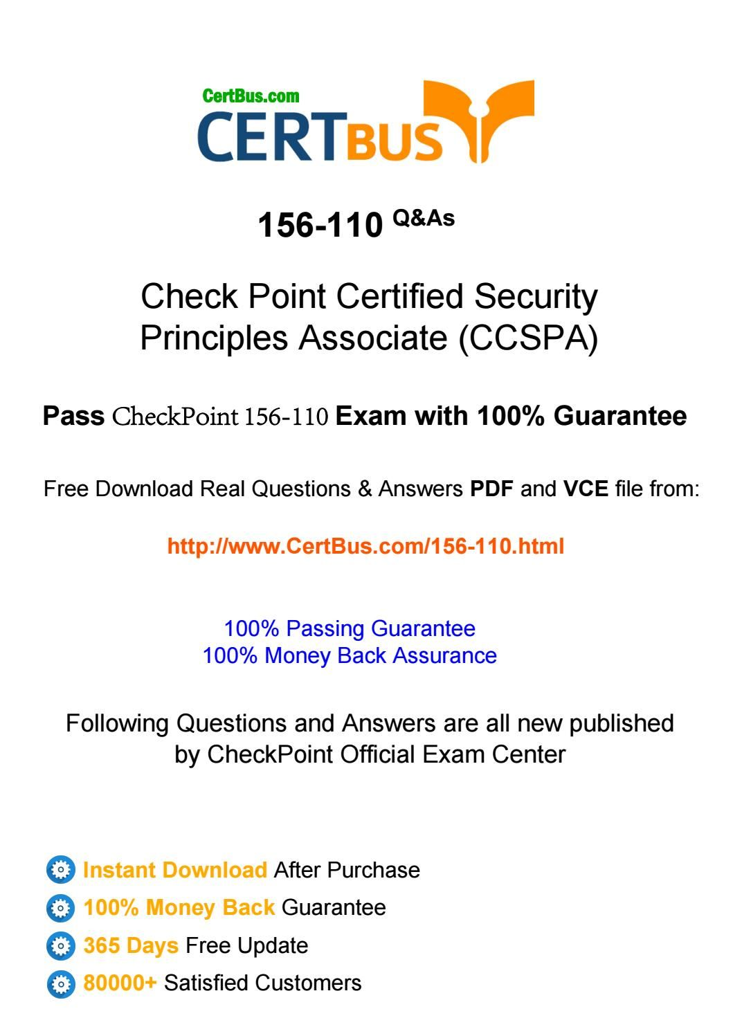 Certbus Checkpoint 156 110 Study Materials Braindumps With Real Exam