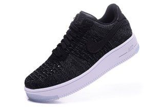 promo code 30f6f 22b81 Nike Air Force 1 Flyknit Low Black White 820256 001 Mens Womens Sneakers