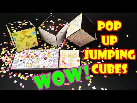 7 Easy Diy Jumping Cubes Pop Up Cubes Card Yakomoga Easy Diy Youtube Pop Cubes Birthday Cards Diy Diy Birthday Card For Boyfriend