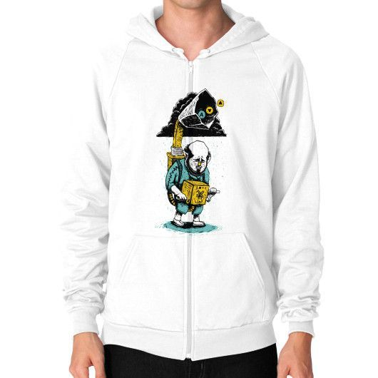 Song of Storms Zip Hoodie (on man)