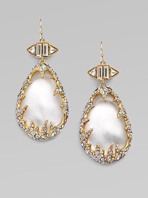 Alexis Bittar - Swarovski Crystal Accented Frame Lucite Drop Earrings - Saks.com