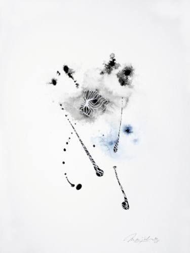 "Saatchi Art Artist Marijah Bac Cam; Drawing, ""Wind Blowing"" #art"
