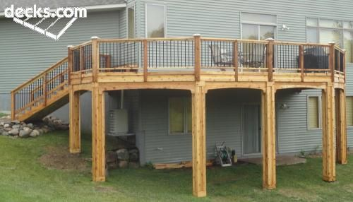 High elevation deck picture gallery deck ideas for High deck ideas