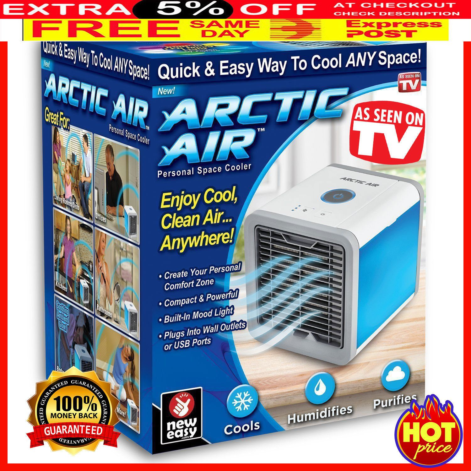 Artic Air Personal Space Air Cooler Quick Easy Way To Cool Air Conditioner Cool Stuff Air Cooler Artic Air