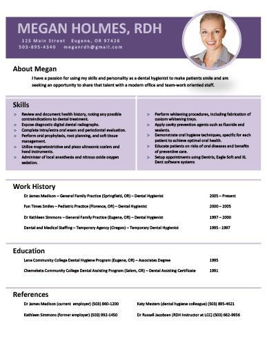 image result for rdh resume templates i love being an rdh pinterest