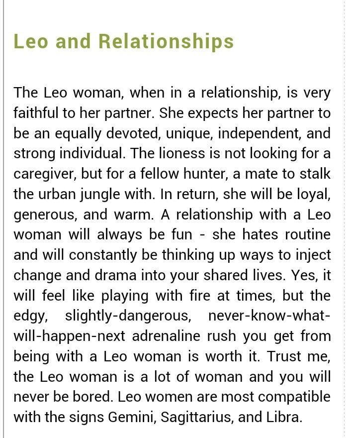 Dating a leo man astrology