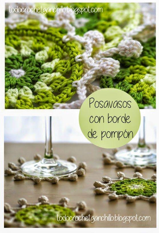 Patrón de posavasos ganchillo | Tejidos a crochet | Pinterest ...