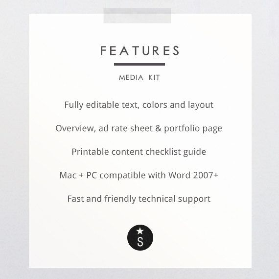 Easy to use Media Kit Inspiration for bloggers or entrepreneurs or - easy resume template free