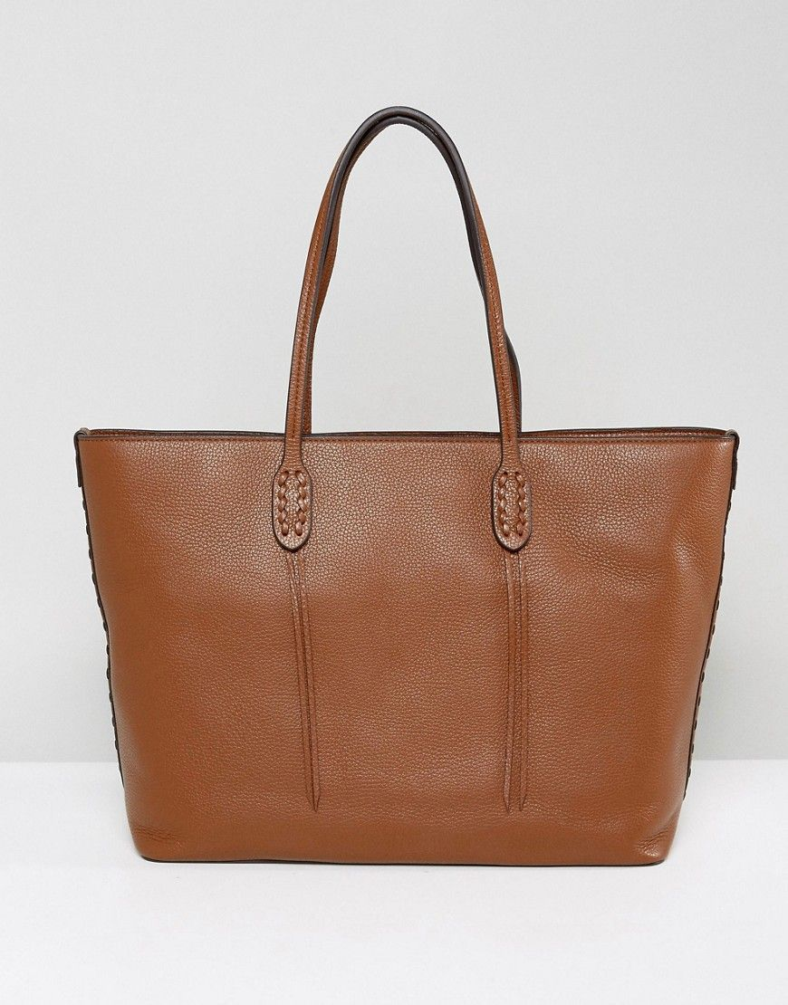 Get this Polo Ralph Lauren s leather bag now! Click for more details.  Worldwide shipping. Polo Ralph Lauren Leather Tote With Top Zip - Tan  Bag  by Polo ... d9dabf6391