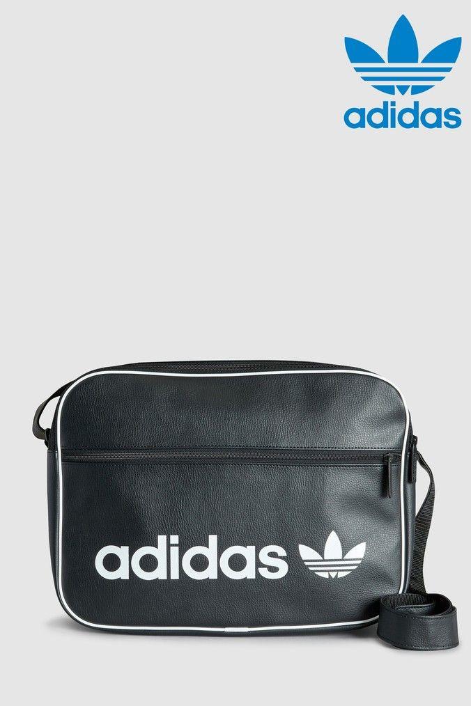 Mens Adidas Originals Black Airliner Bag Black Adidas Originals Bags Adidas