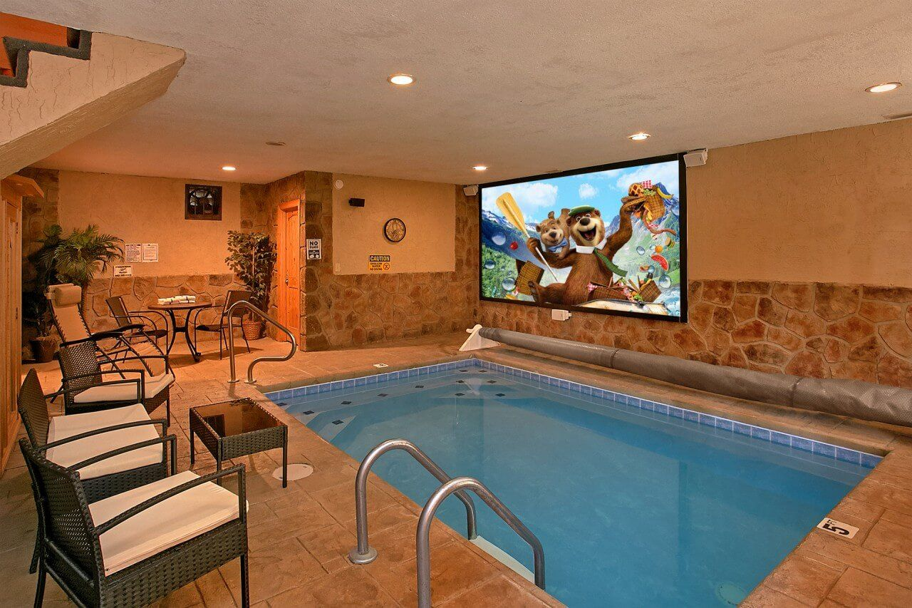 Gatlinburg Cabin Rentals In The Smoky Mountains Indoor Pool Design Small Indoor Pool Luxury Swimming Pools