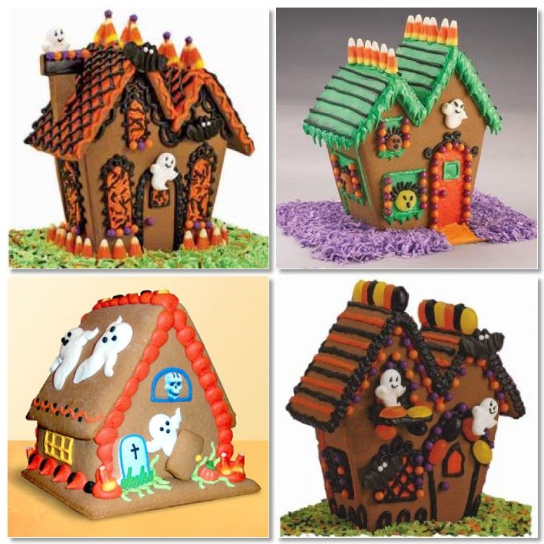 super cute Haunted gingerbread house, Halloween