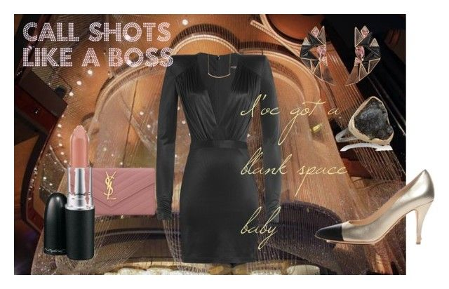 Like A Boss by everlee-cotnam on Polyvore featuring Balmain, Chanel, Yves Saint Laurent, Nak Armstrong, Melissa Joy Manning and Gorjana