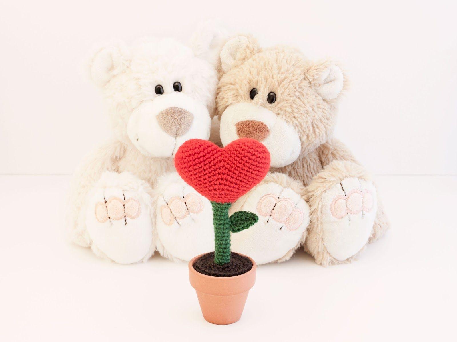 Amigurumi Corazon : Amigurumi flor corazon (patron gratis) - amigurumi hearts ...