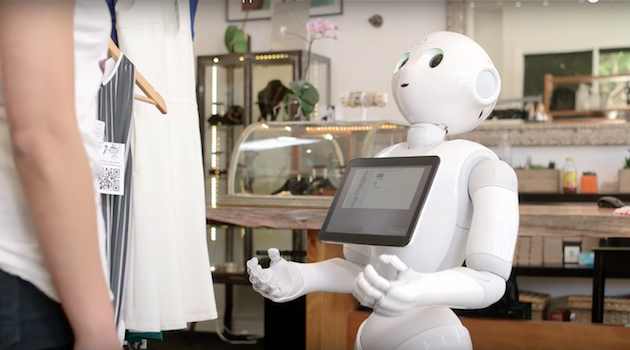 japanese robot selling clothes