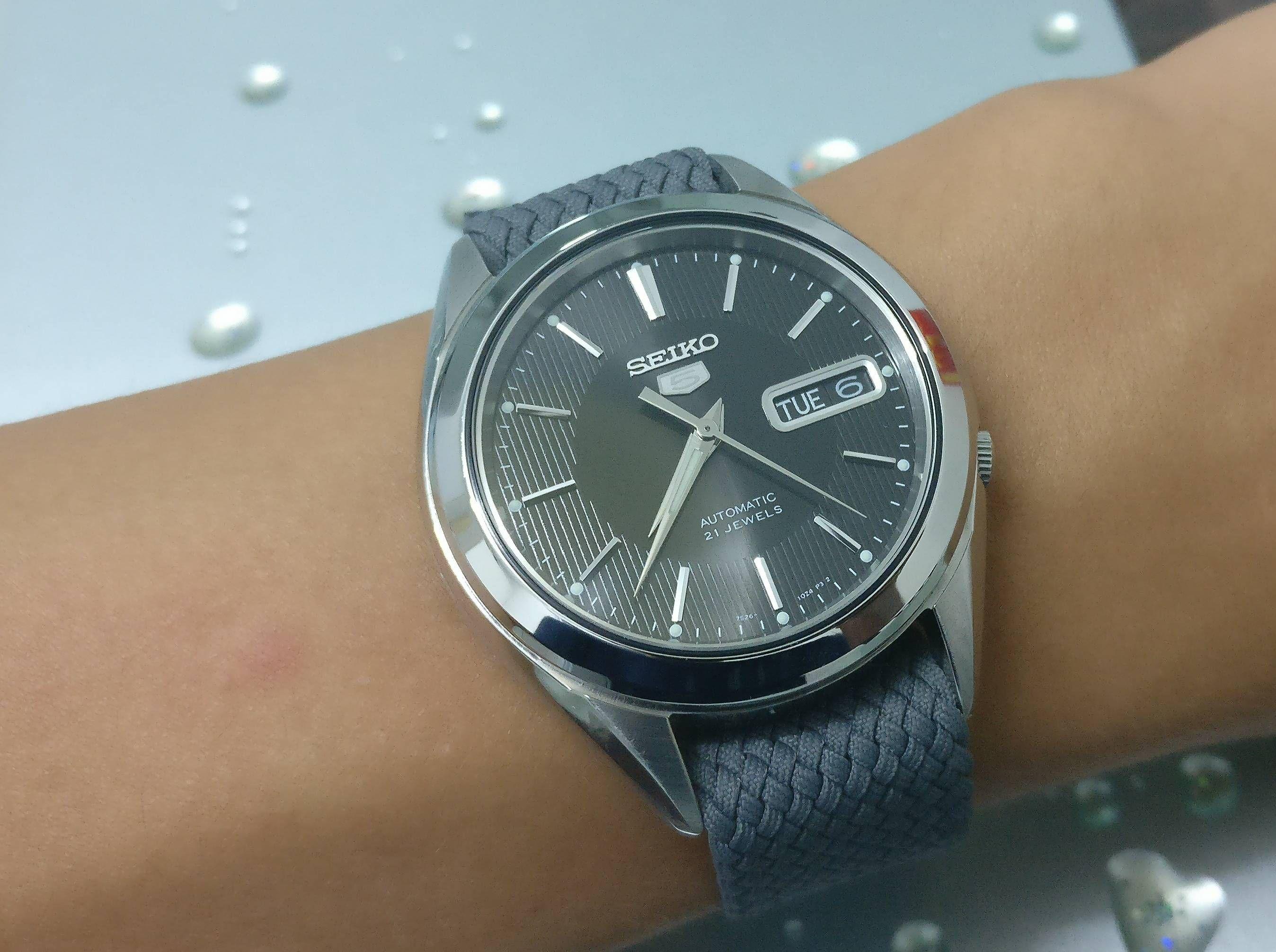 Seiko Snkl23 With A Grey Perlon Strap Watches Seiko Watches