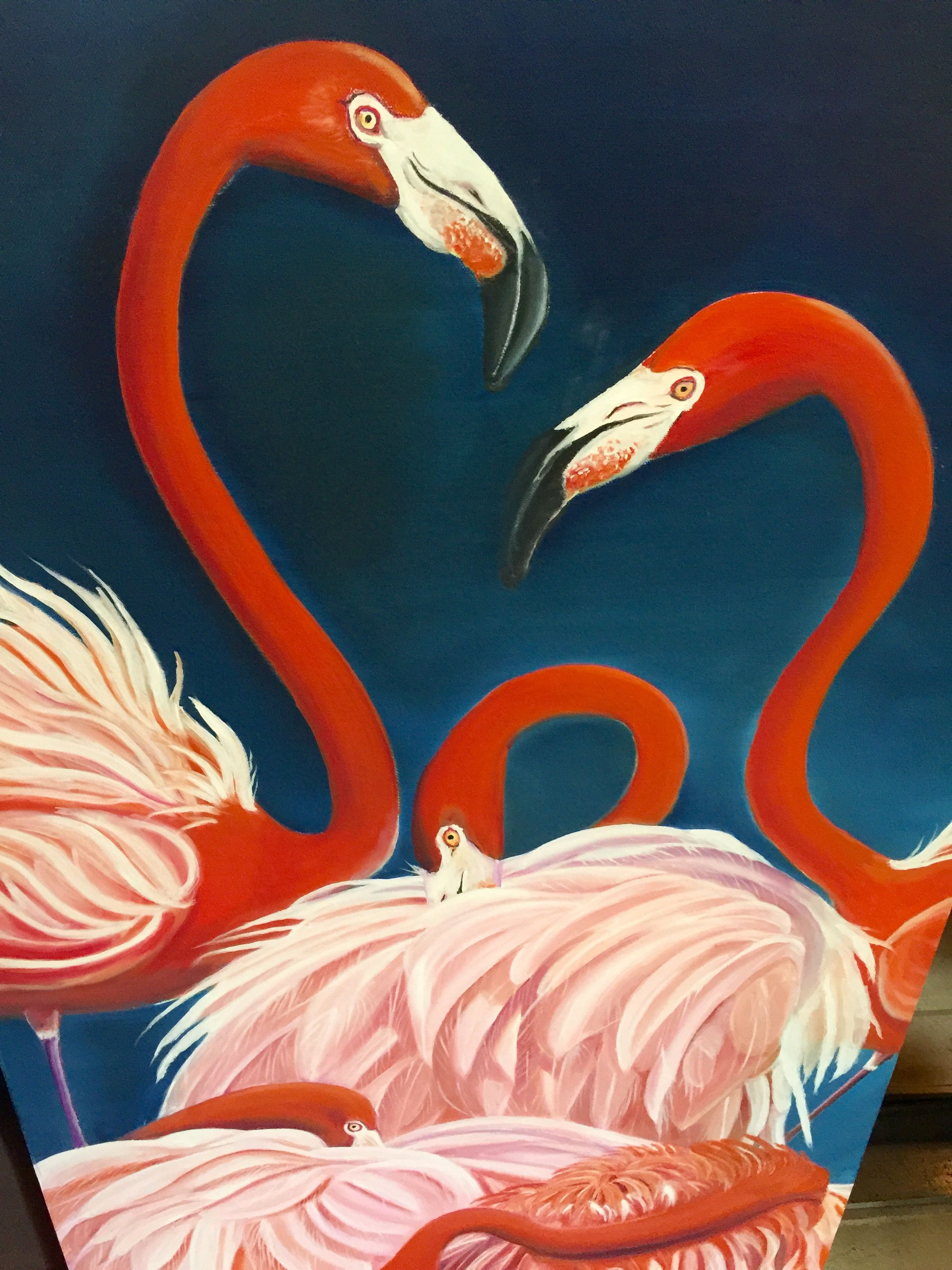 Pin by Martha Singh on Paintings Painting, Animals, Flamingo