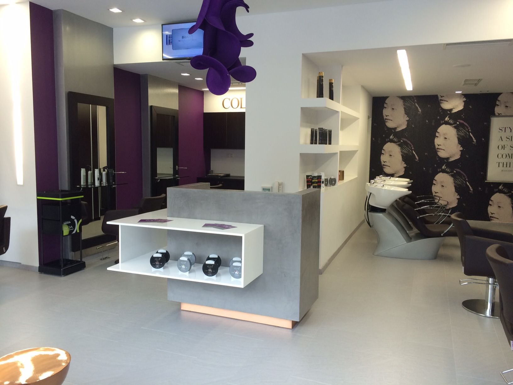 Second Salon For Romylos All About Hair Interior Salons About Hair
