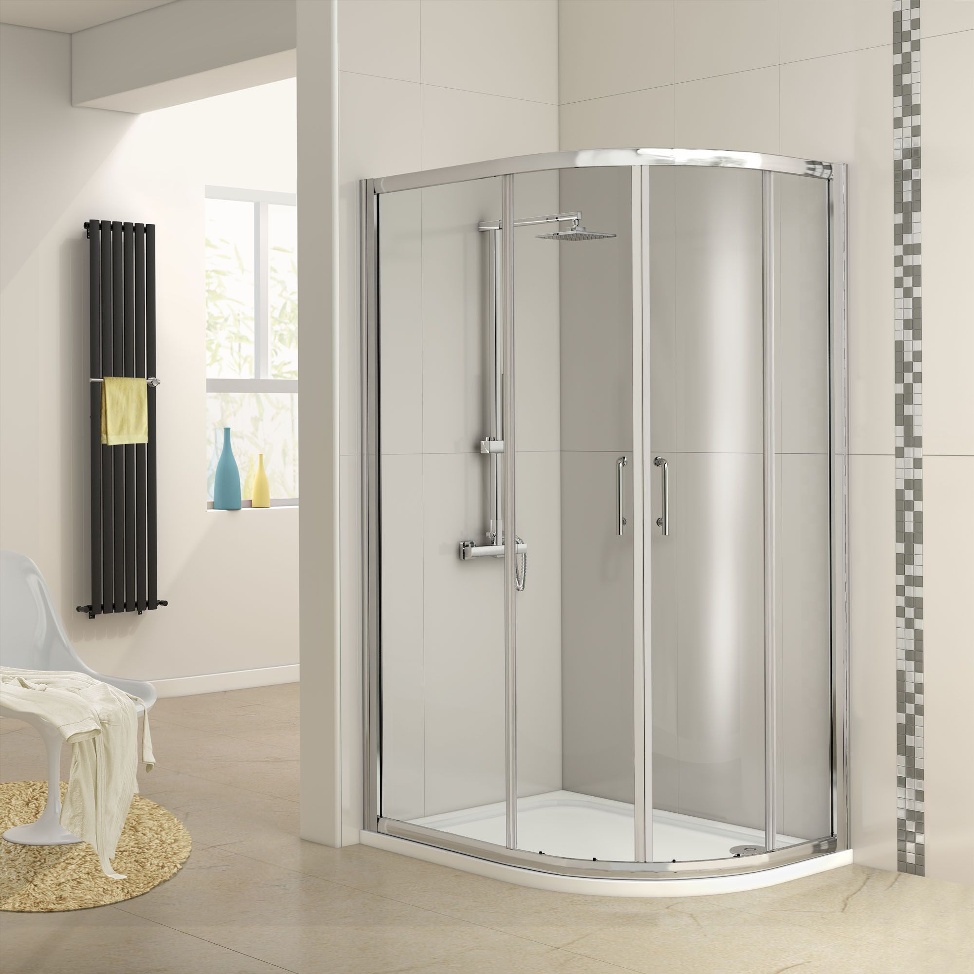 Best 25 quadrant shower enclosures ideas on pinterest quadrant shower small shower tray and - Small shower enclosures ...