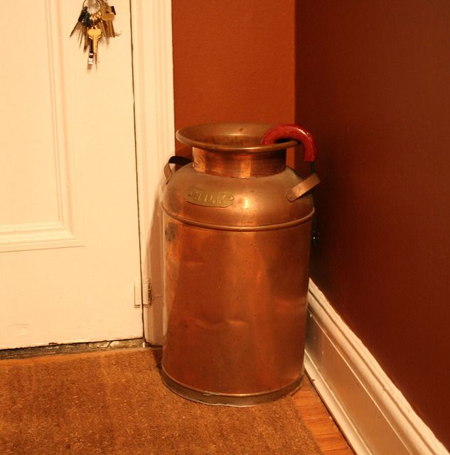 Umbrella Stand Hobby Lobby: I Have A Vintage Copper Milkcan (from Erik's Mom, From