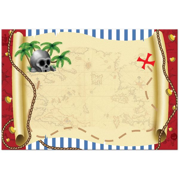 pirate treasure map invitation template | education | pinterest, Invitation templates