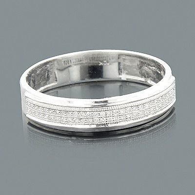 This Clic 2 Row Diamond Wedding Band In 10k Gold Showcases 0 16 Carats Of Genuine Diamonds