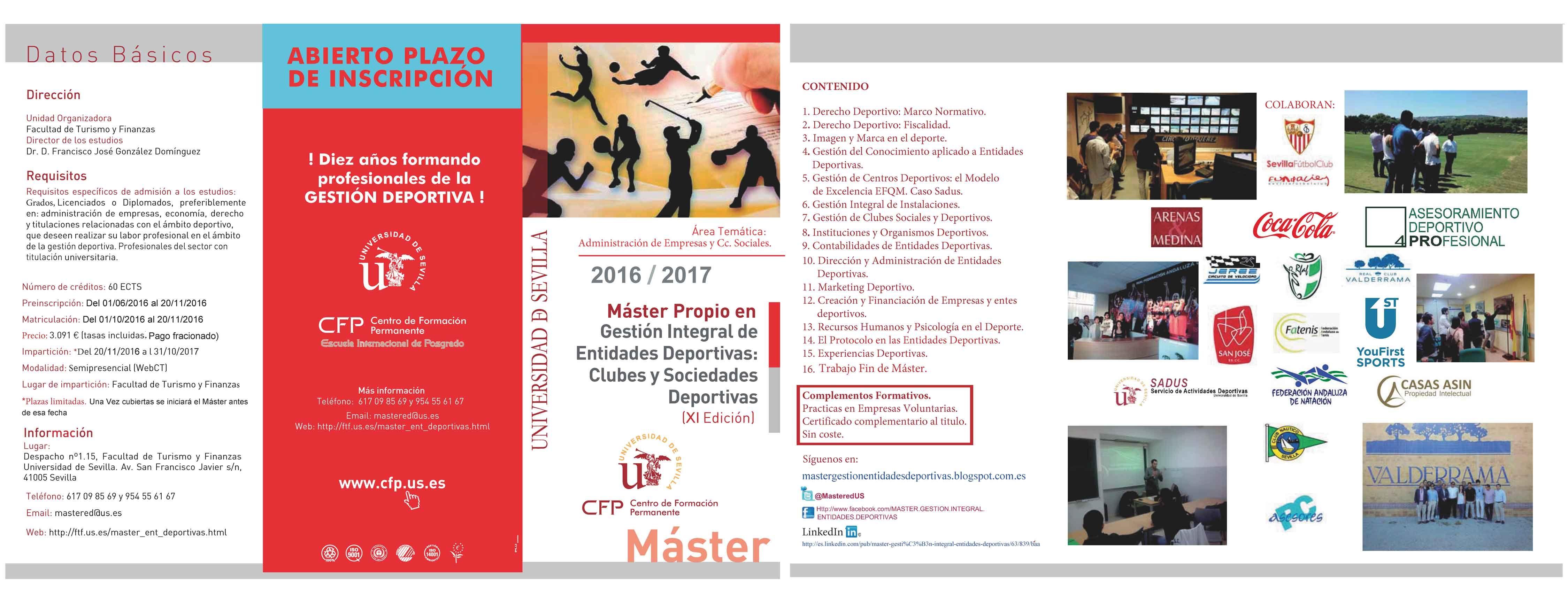 #mastergestiondeportivaus: nuevos colaboradores se suman s la 11@ Edición: #cocacola, #CasasAsin, #4PRO, #federaciónandaluzadenatación. #Esencia y #Actualización