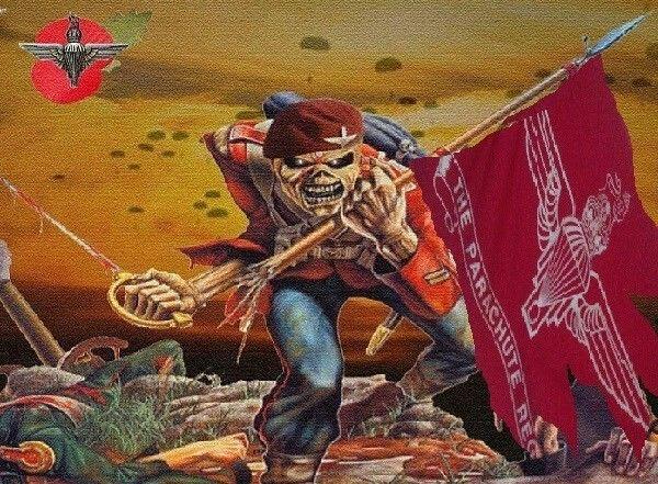 Iron Maiden The Trooper Parachute Regiment Version Iron Maiden The Trooper Music Artwork Parachute Regiment