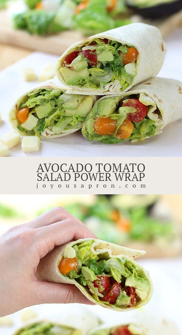 Avocado Tomato Salad Power Wrap