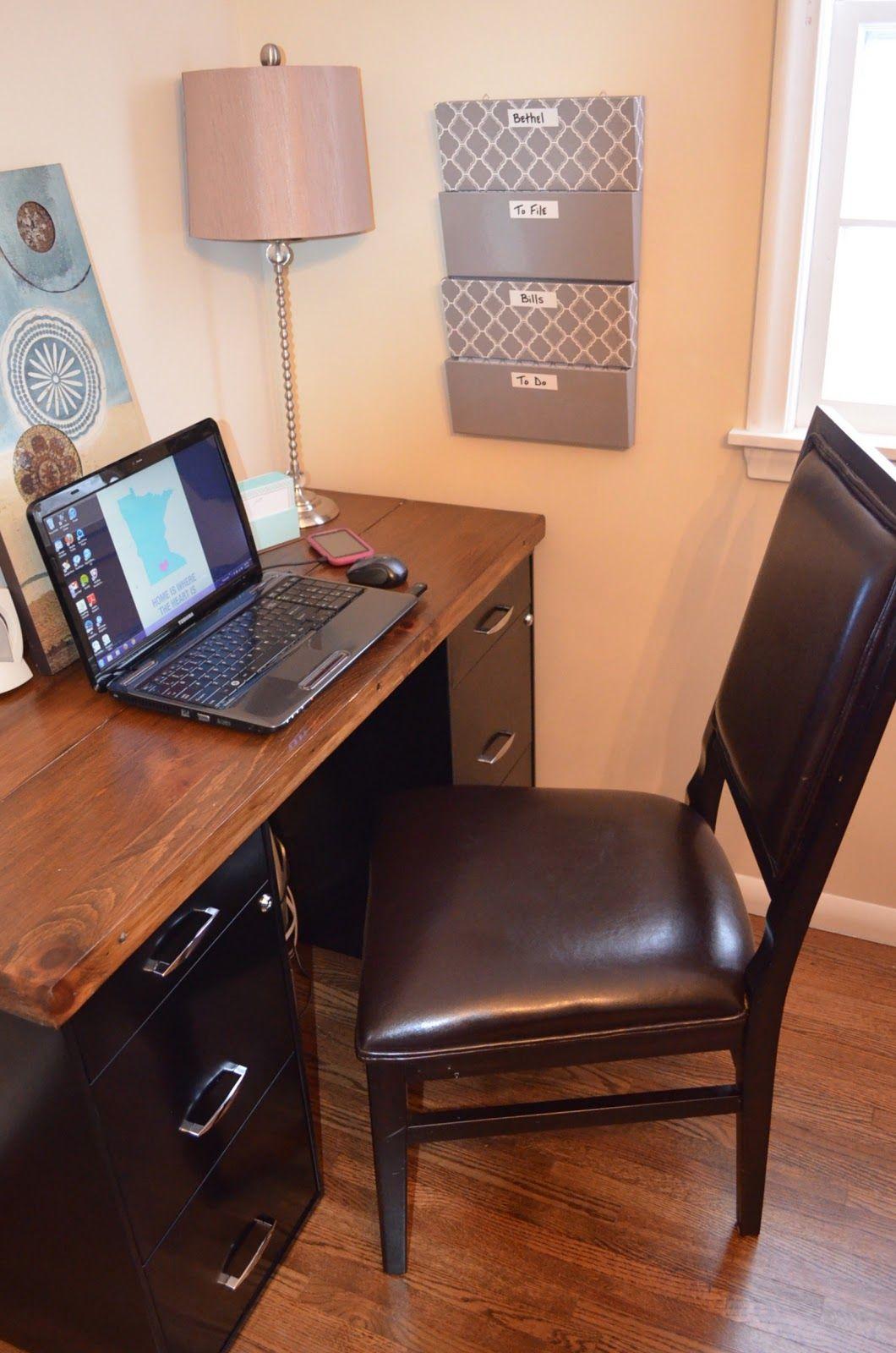 An Inviting Home A Diy Desk Diy Wood Desk Diy Desk File