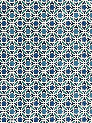 DecoratorsBest - Detail1 - Sch 5005970 - Serallo Mosaic - Aegean - Wallpaper - - DecoratorsBest