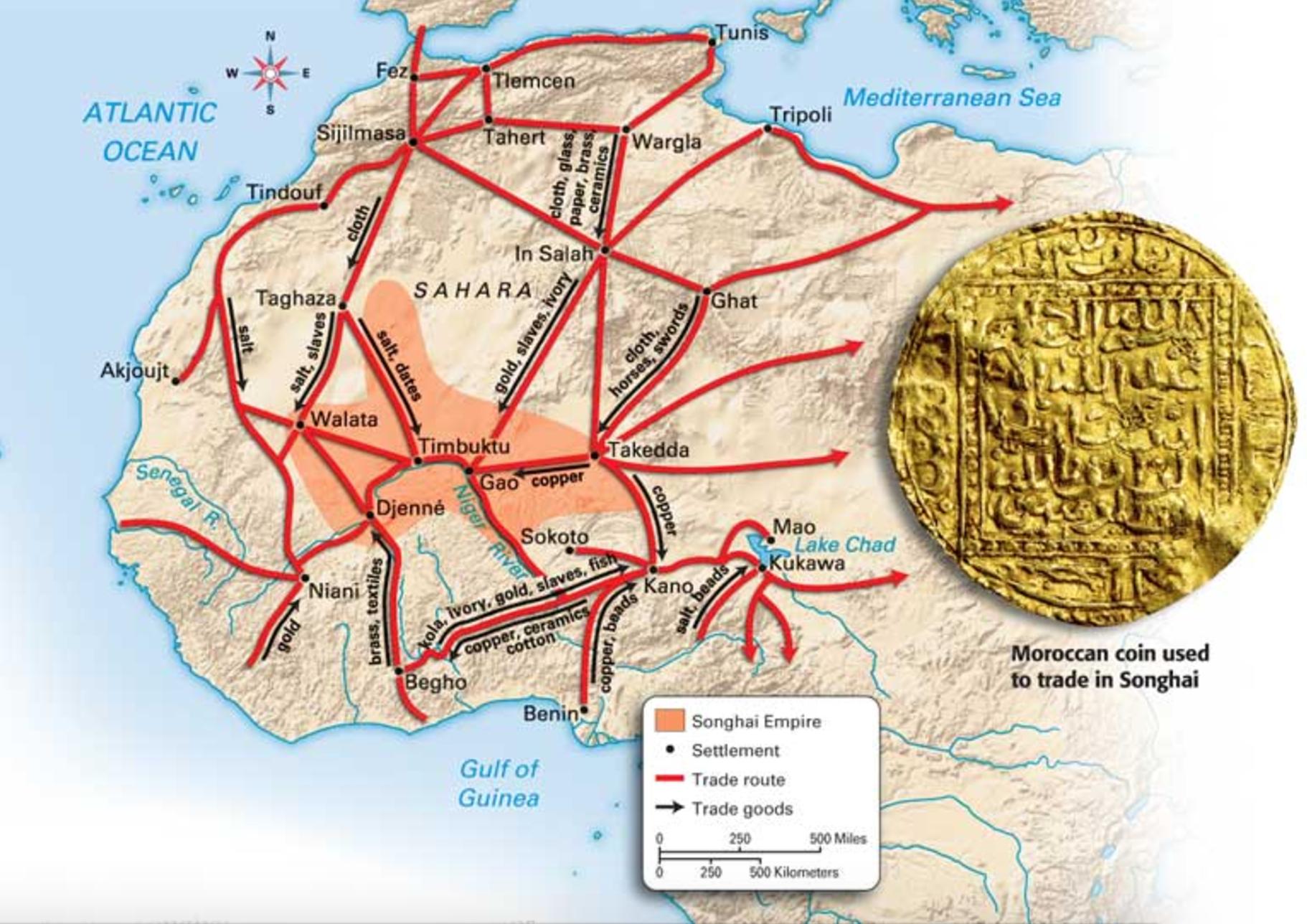Songhai Africa Map.Songhai Empire Trade Routes Bantu Maps