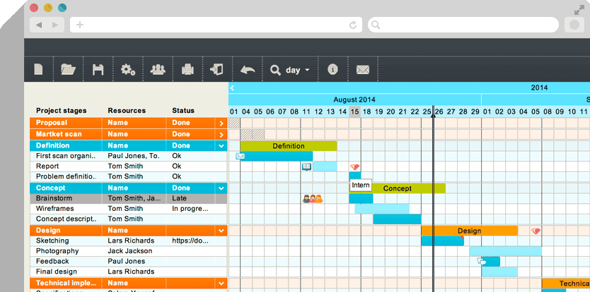 Project Scheduling Tool  TomS Planner  Drag And Drop Project