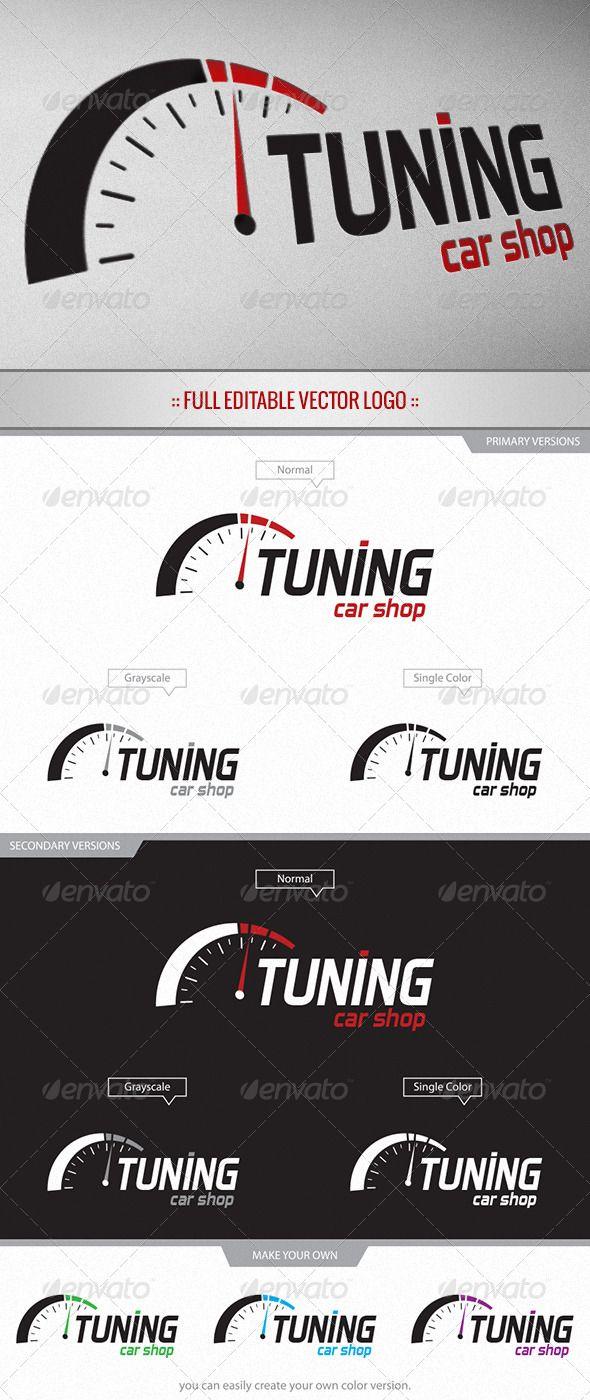 Tuning Car Shop Logo Car shop, Shop logo, Garage logo