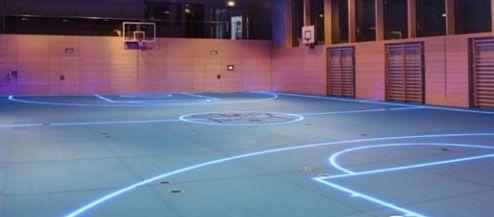 Lights On Floor Google Search Gym Flooring Indoor Basketball Court Glass Floor
